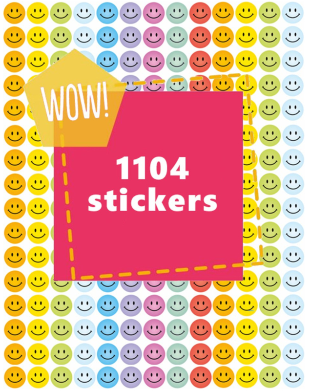 Smiley Stickers Pastel 10mm- 1104 Stickers
