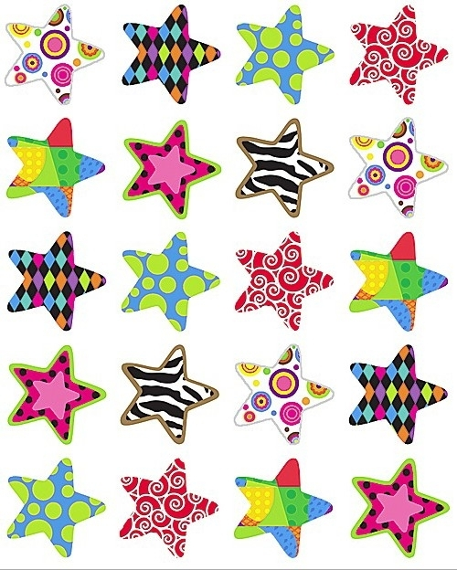 Bonte Sterren - 20 Stickers