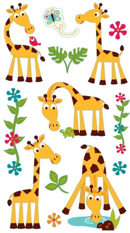 Zoete Giraffen -  13 Stickers