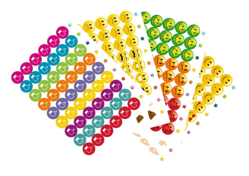 Beloningsstickers Grote Set Goed Beter - 4 Vel - 216 Stickers - 19mm