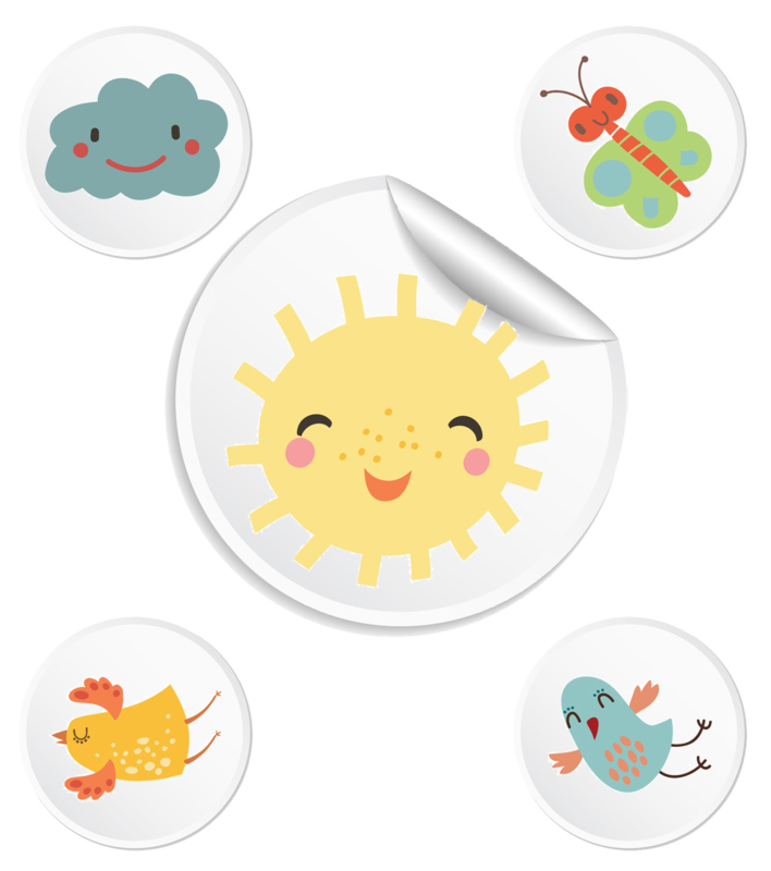 Beloningssysteem Schattig met stickers - Complete Set