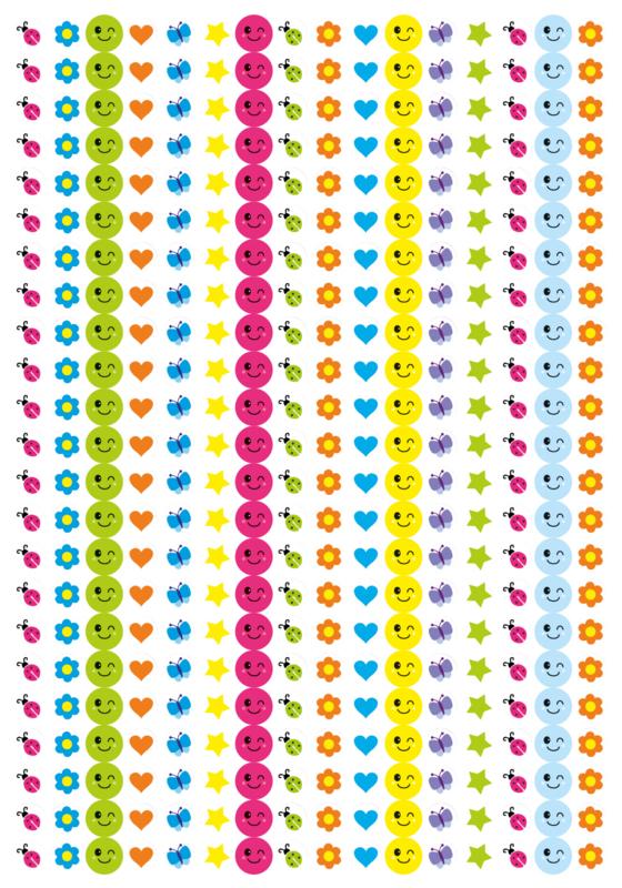 Beloningsstickers Beestjes en Meer 10mm- 1104 Stickers Mega Set