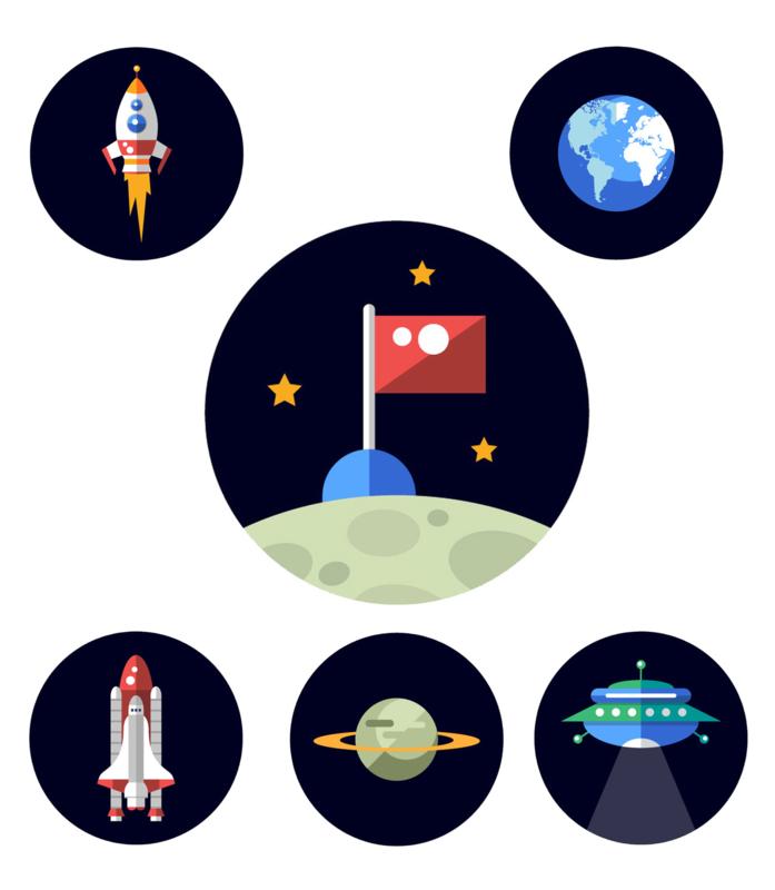 Beloningssysteem Ruimte met stickers - Complete Set