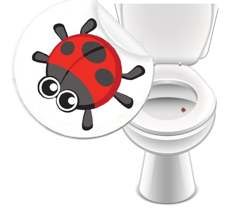 Toilet Stickers Lieveheersbeestje 20mm - 2 Stickers