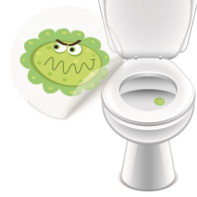 Toilet Stickers Monstertjes 30mm - 4 Stickers