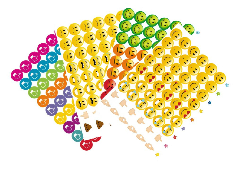 Beloningsstickers Grote Set Goed Beter - 4 Vel - 216 Stickers - 19mm
