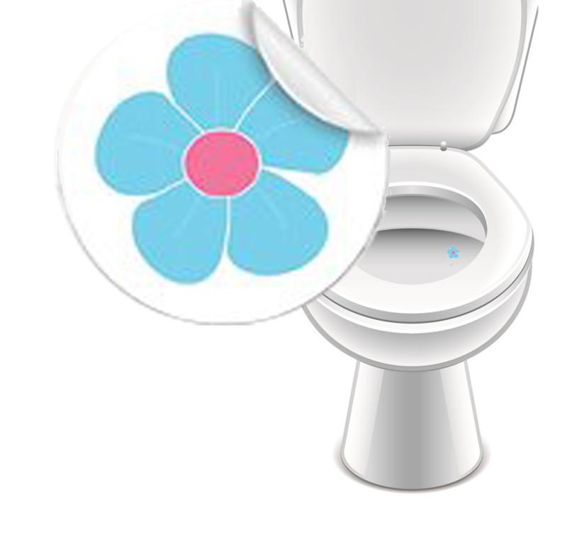 Toilet Stickers Bloem 20mm - 2 Stickers