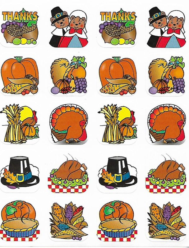 Thanksgiving Stickers - 20 Stickers