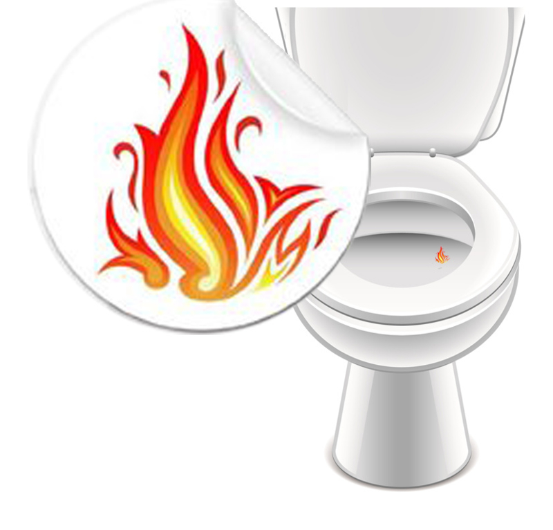 Toilet Stickers Vlam 20mm - 2 Stickers