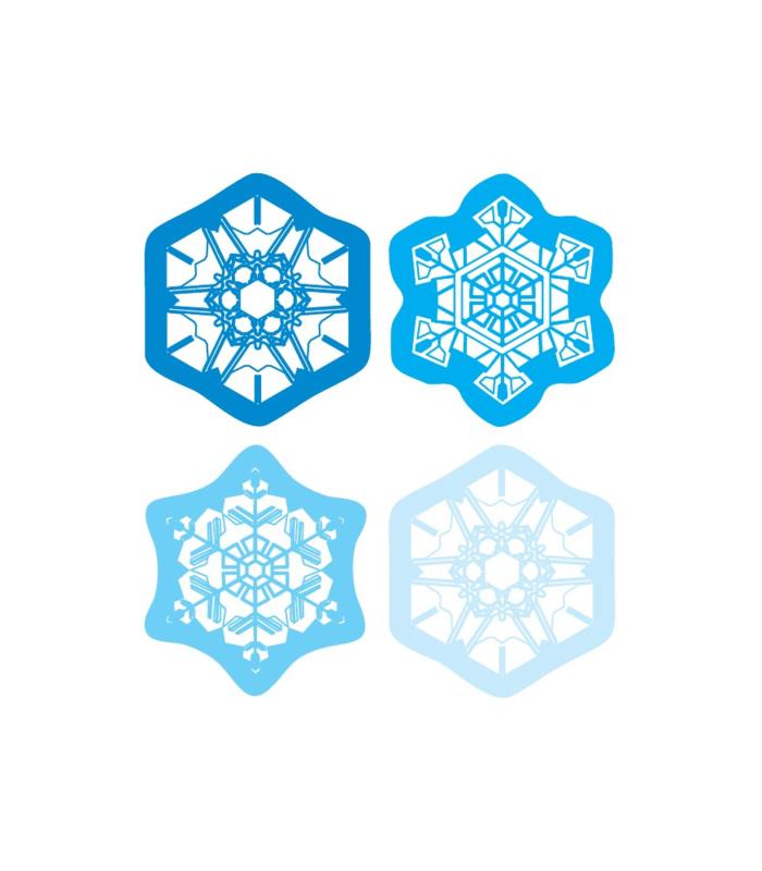 Super Sneeuwvlokken - 20 Stickers