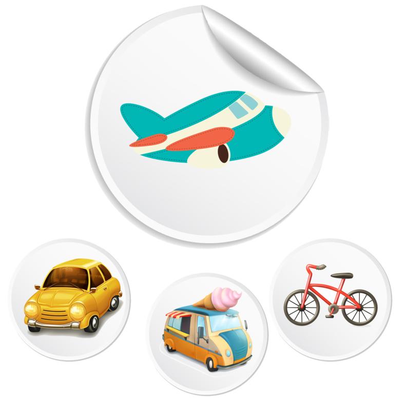 Beloningssysteem Transport met stickers - Complete Set