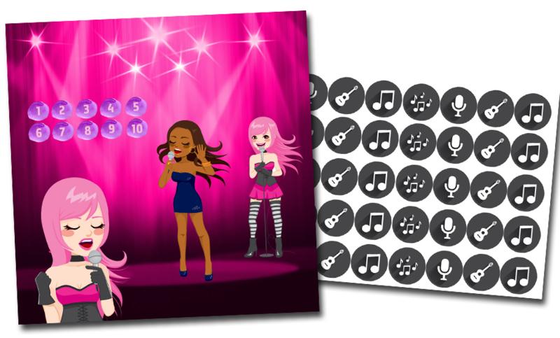 Beloningssysteem Popstar met stickers - Complete Set