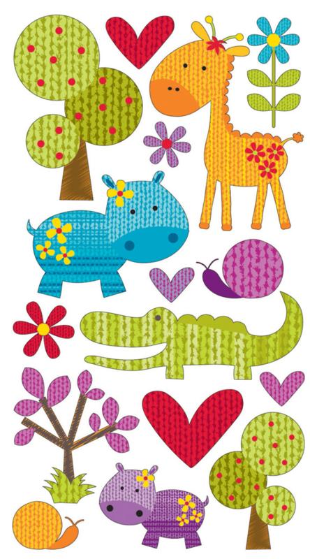 Schattige Safari -  50 Stickers