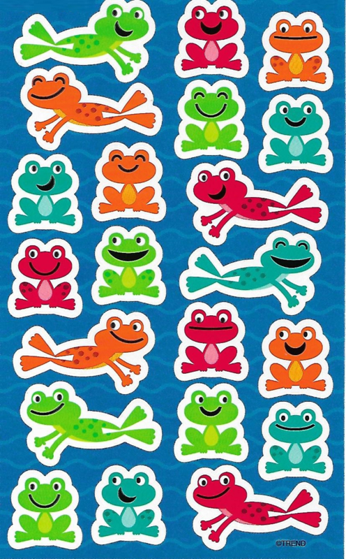 Coole Kikkers - 21 Stickers