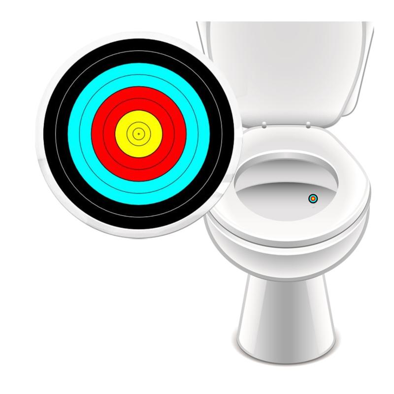 Toilet Stickers In de Roos Gekleurd - 2 Stickers