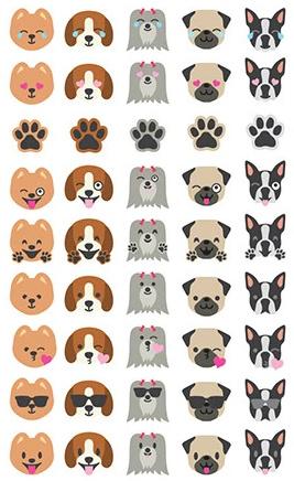 Puppy Love - 45 Stickers