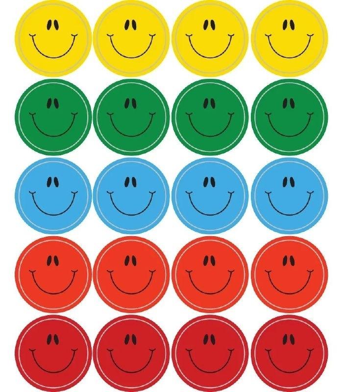 Kleurrijke Smilies - 20 st
