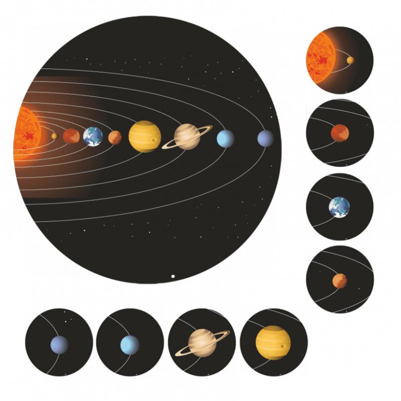 Beloningsstickers Zonnestelsel en Planeten 19mm - 54 Stickers