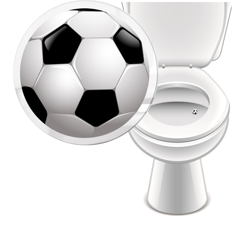 Toilet Stickers Voetbal 20mm - 2 Stickers