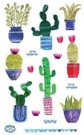 Cactussen - 16 Stickers