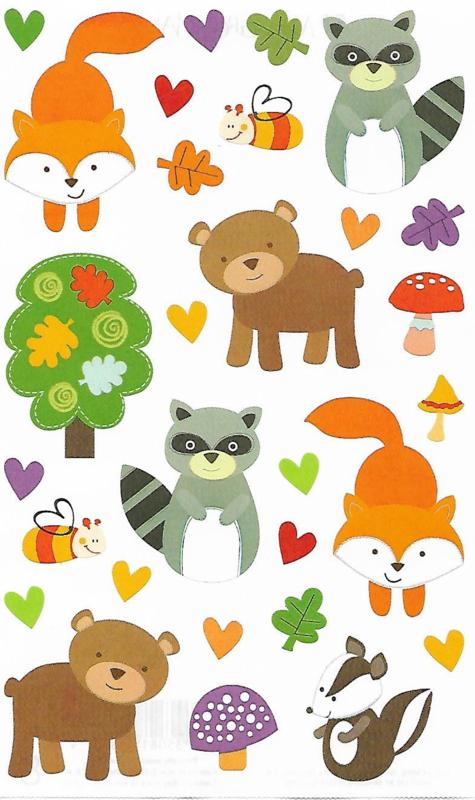 Bosvrienden - 29 Stickers