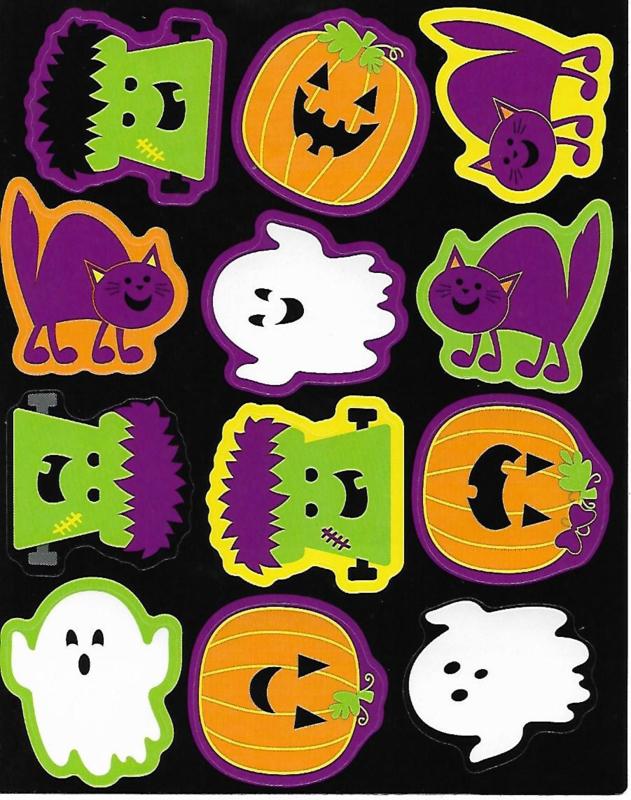 Halloween Fun  - 12 Stickers