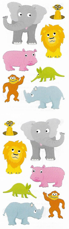 Vrolijke Safari - 14 Stickers