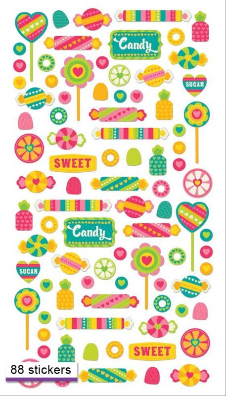 Snoepwinkel - 88 stickers