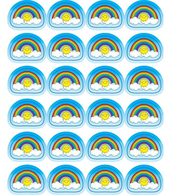 Zonnige Regenbogen - 24 Stickers