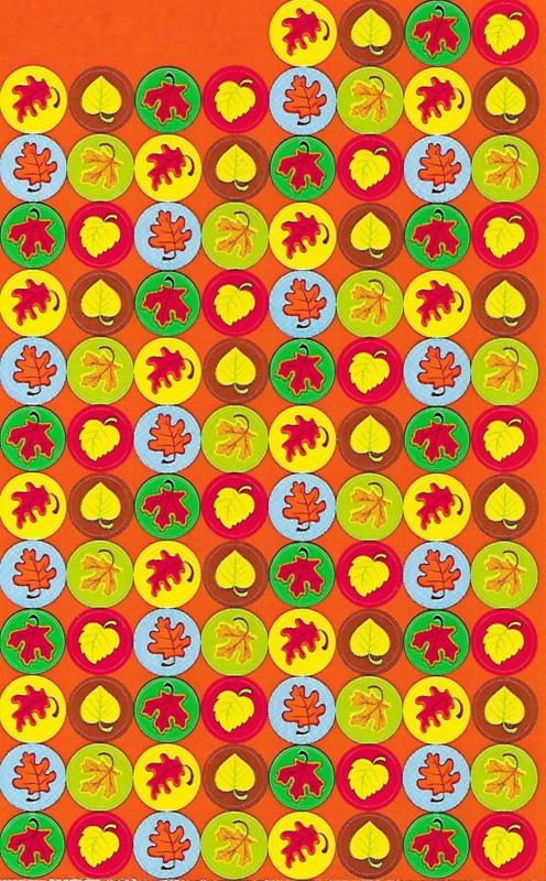 Herfstblaadjes - 100 Stickers