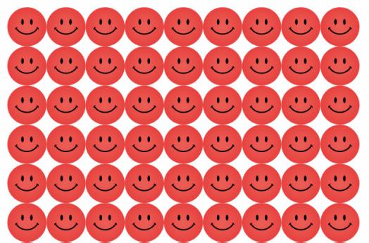 Beloningsstickers Rode Smilies - 54 Stickers