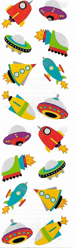 Razende Raketten - 16 Stickers
