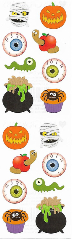 Scary Halloween - 16 Stickers