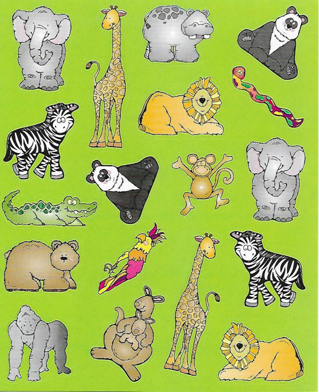 Zoo Fun - 18 Stickers
