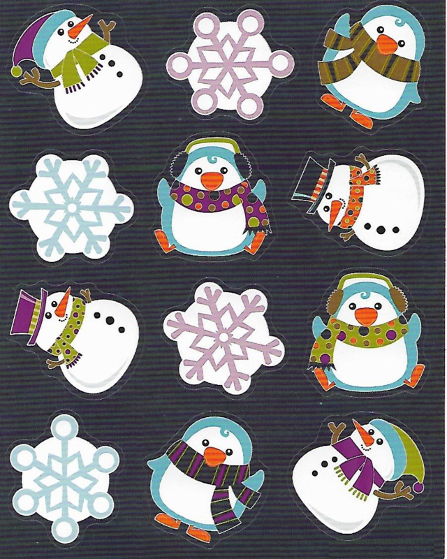 Fun With Snow  - 12 Stickers