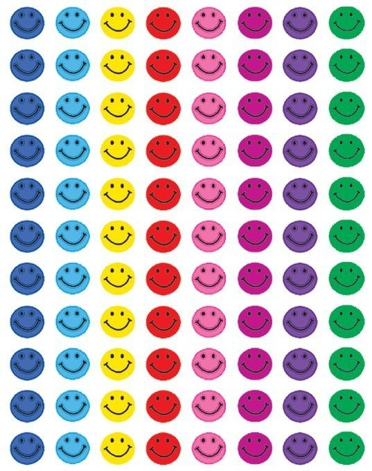 Mini Gekleurde Smileys - 88 Stickers