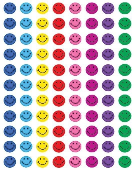 Mini Gekleurde Smileys - 88 Stickers