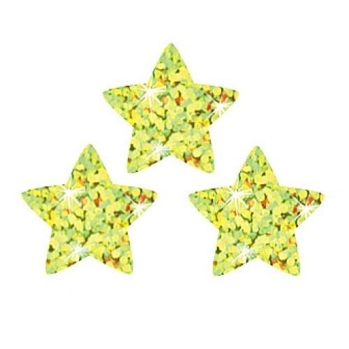 Gouden Sterren Glitter Stickers - 100 stickers
