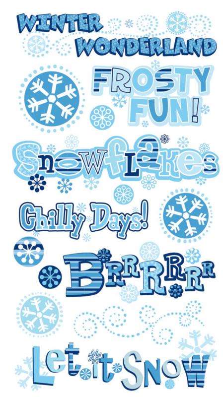 Winter Wonderland Stickers - 16 stickers