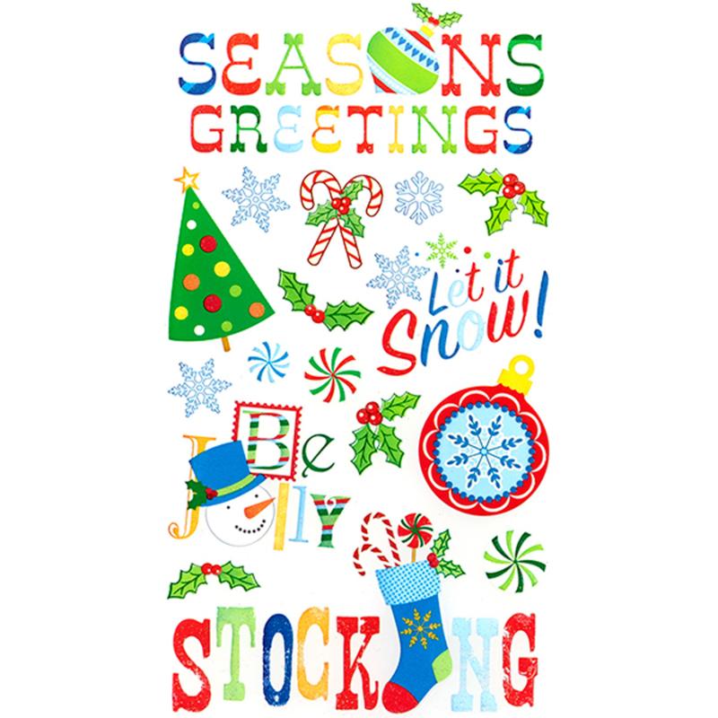 Kerstgroet Stickers - 17 stickers