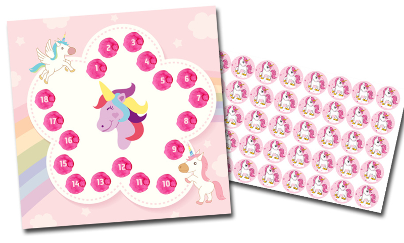 Beloningssysteem Eenhoorns met stickers - Complete Set