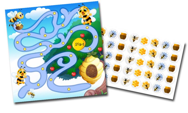 Beloningssysteem Bijtjes met stickers - Complete Set