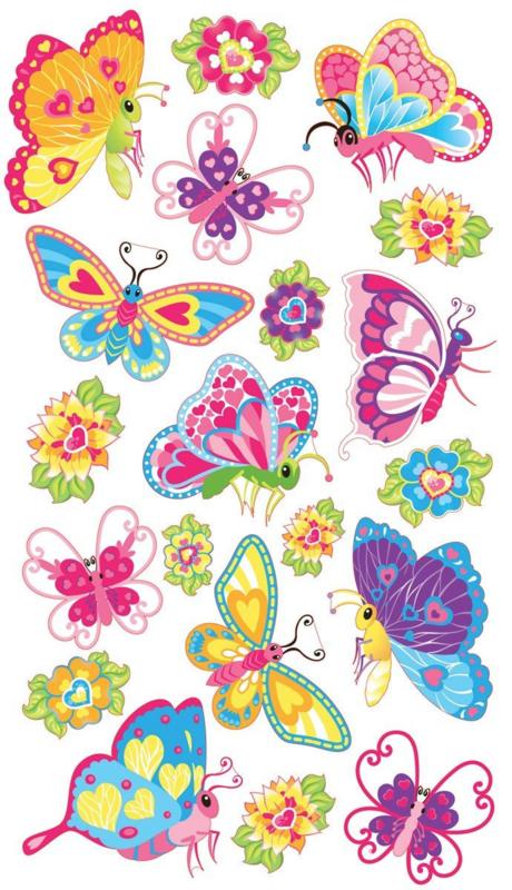 Magische Vlinders - 20 stickers
