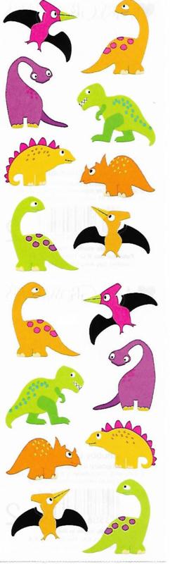 Vrolijke Dino's - 16 Stickers