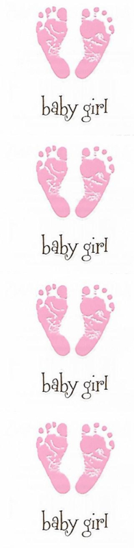Baby Girl -  8 Stickers