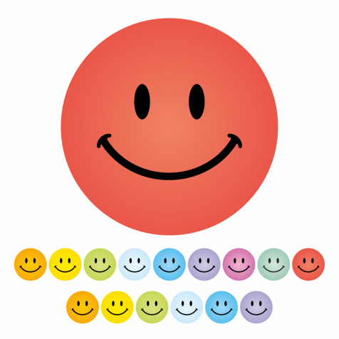 Beloningsstickers Smileys Klein 10mm- 368 Stickers Mega Set