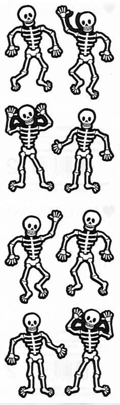 Scary Skeletons - 8 Stickers