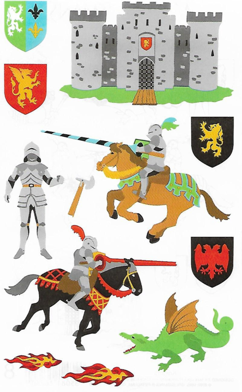Stoere Ridders - 12 Stickers