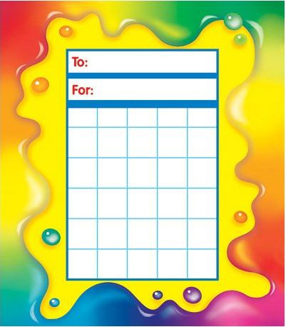 Beloningskaart Prachtige Kleuren