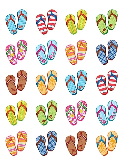 Slippers - 20 Stickers